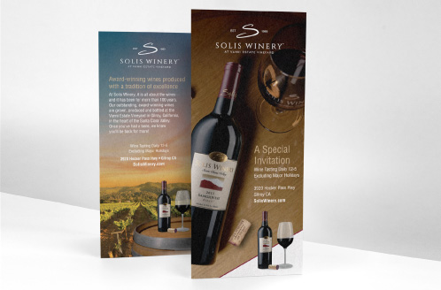 Solis Winery Rack Card